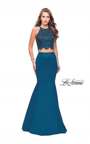 Picture of: Two Piece High Neck Prom Dress with Beading, Style: 26035, Detail Picture 2