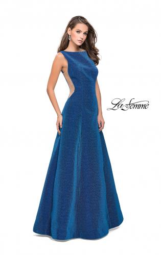 Picture of: Long Mikado Ball Gown with Boat Neckline and Pockets, Style: 26231, Main Picture