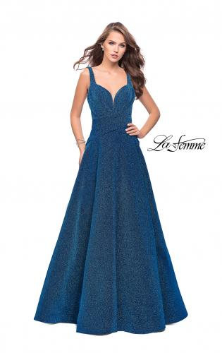 Picture of: Sparkling Mikado A-line Ball Gown with Ruched Bodice, Style: 26325, Main Picture