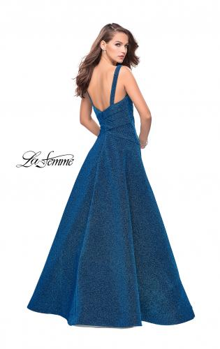 Picture of: Sparkling Mikado A-line Ball Gown with Ruched Bodice, Style: 26325, Back Picture