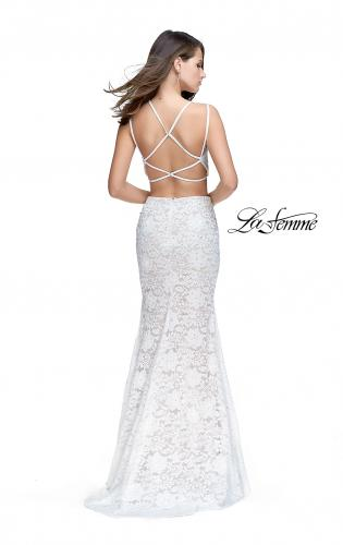 Picture of: Two Piece Mermaid Dress with Beading and Lace, Style: 25771, Back Picture