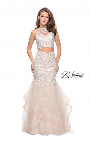 Picture of: Two Piece Lace Prom Dress with Tulle Skirt, Style: 26071, Detail Picture 1