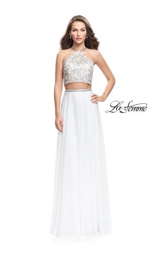 Picture of: Two Piece Dress with Chiffon Skirt and Lace Top, Style: 26288, Detail Picture 1