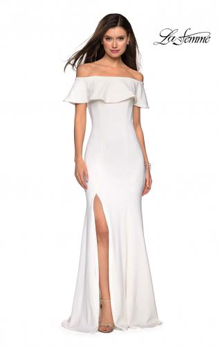 fe74992c1ae ... Picture of: Long Off The Shoulder Prom Dress with Side Slit, Style:  27096