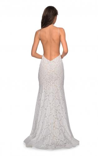 Picture of: Long Lace Prom Dress with High Neckline, Style: 27289, Detail Picture 2