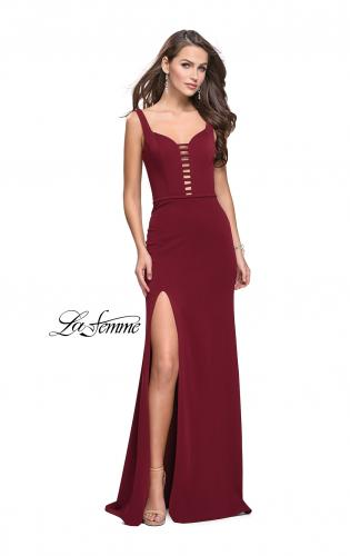 Picture of: Form Fitting Prom Dress with Detailed Front Cut Out, Style: 25509, Main Picture