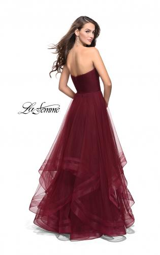 Picture of: Tulle Ball Gown with Sweetheart Neckline, Style: 25446, Back Picture