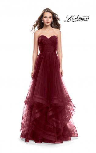Picture of: Tulle Ball Gown with Sweetheart Neckline, Style: 25446, Detail Picture 1