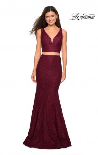 efb196ec0ac ... Picture of  Sweetheart Neckline Two Piece Long Lace Prom Dress
