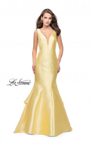 Picture of: Low Scoop Mermaid Prom Dress with Tiered Detail, Style: 26046, Detail Picture 2