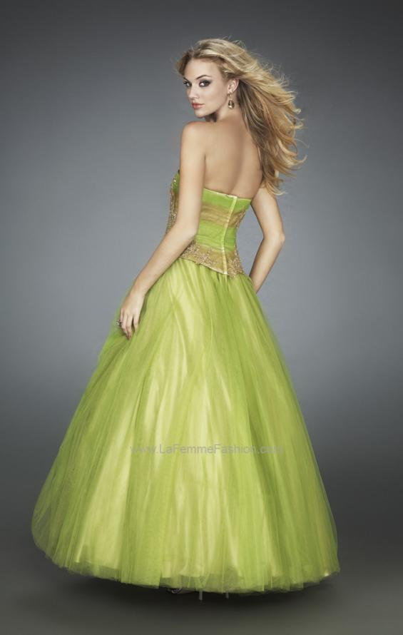 Picture of: Multi Toned Long Prom Dress with Lace Appliques, Style: 11788, Back Picture