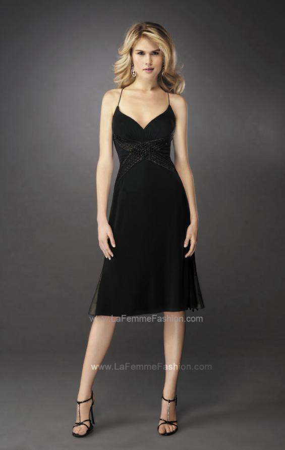 Picture of: Embellished Prom Dress with A-line Skirt and Open Back in Black, Style: 12721, Main Picture
