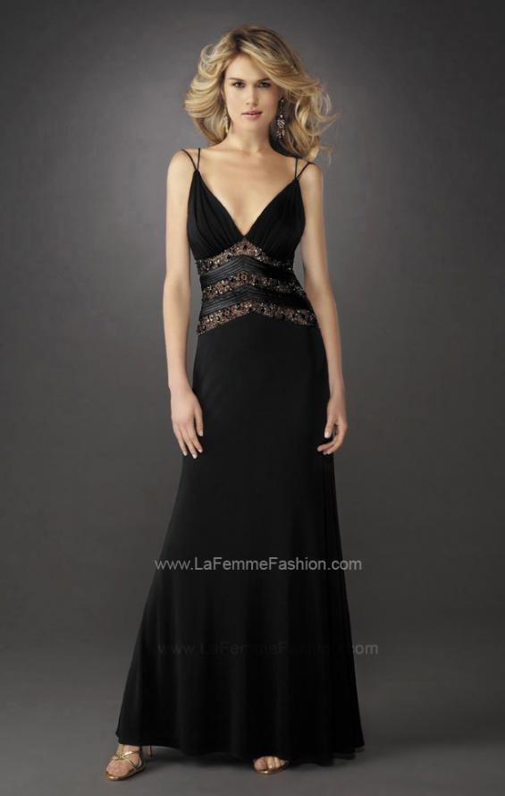 Picture of: Gathered Bodice V Neck Dress with Sheer Waist Detail, Style: 13057, Main Picture