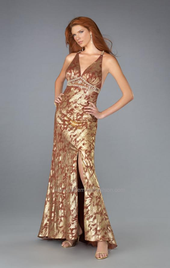 Picture of: V Neck Prom Dress with Empire Waist and Open Back, Style: 13191, Main Picture