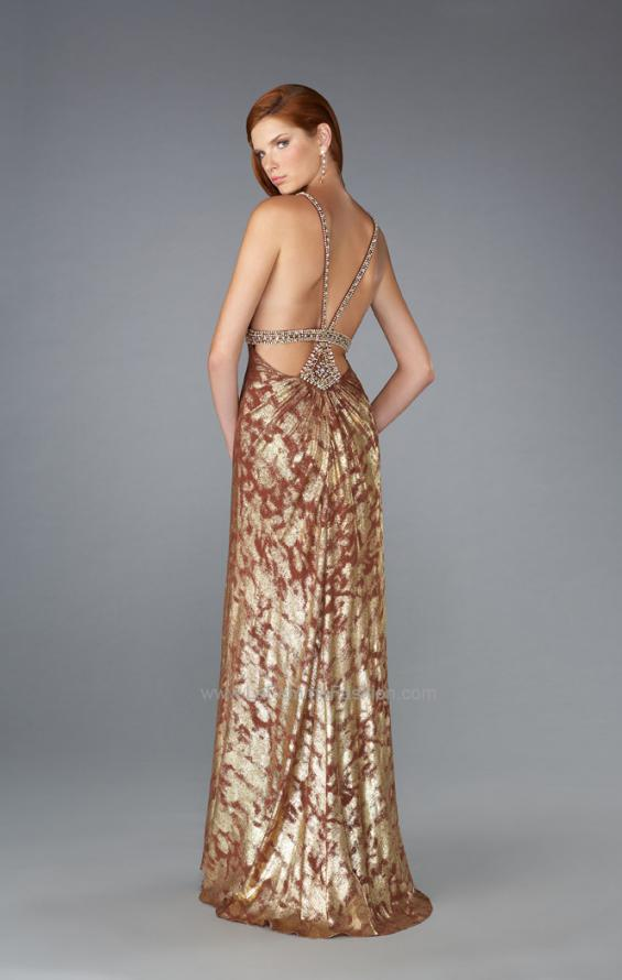 Picture of: V Neck Prom Dress with Empire Waist and Open Back, Style: 13191, Back Picture
