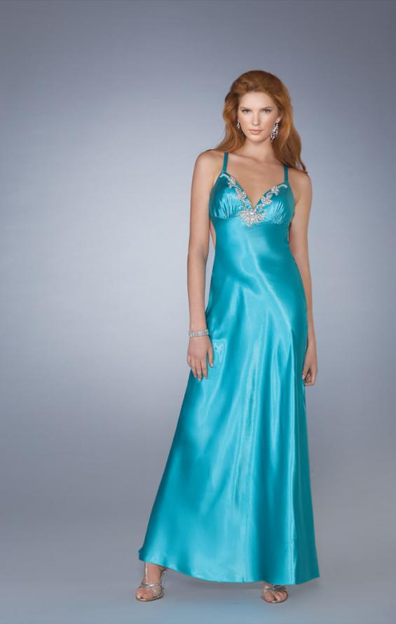 Picture of: V Neck Prom Gown with Beaded Neckline and Low Back, Style: 13417, Main Picture