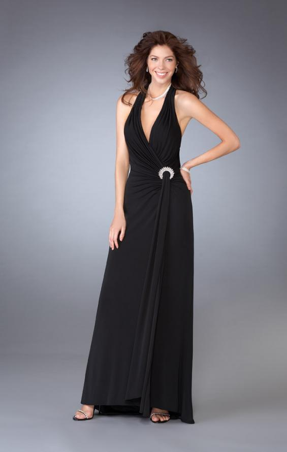 Picture of: Long Halter Prom Dress with Embellished Accents, Style: 13434, Main Picture
