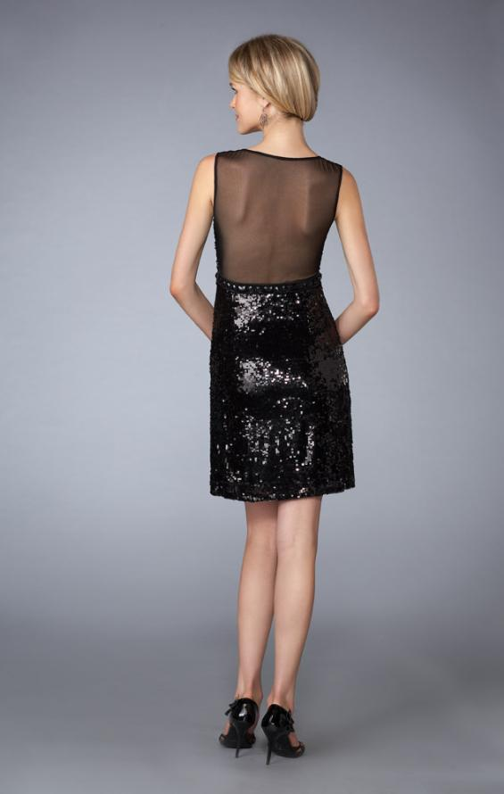 Picture of: Short Sequined Dress with Sweetheart Neckline, Style: 13457, Back Picture