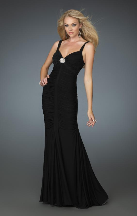 Picture of: Form Fitting Prom Gown with Sweetheart Neckline in Black, Style: 14555, Main Picture