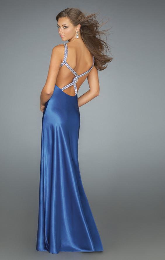 Picture of: Keyhole Halter Prom Gown with Beaded Straps, Style: 14583, Main Picture