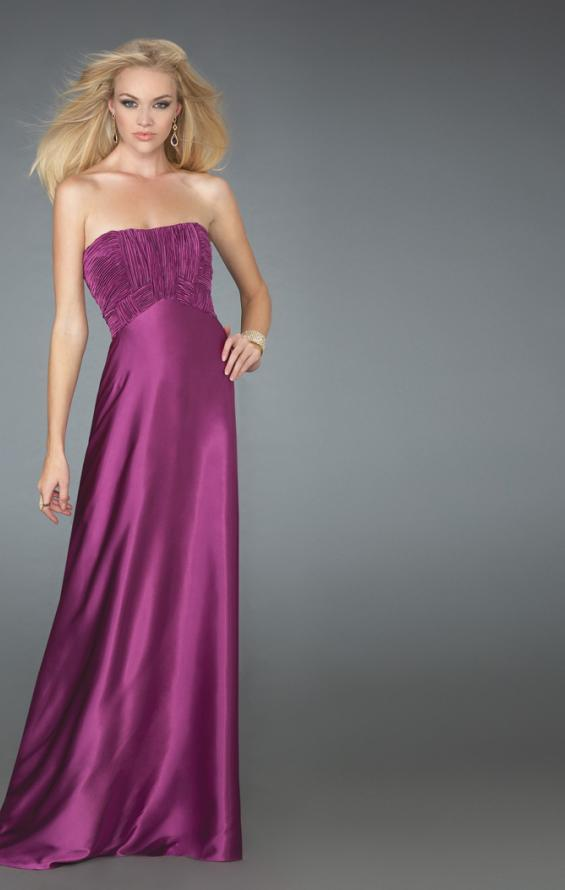 Picture of: Long Strapless Prom Gown with a Ruched Bodice, Style: 14605, Main Picture