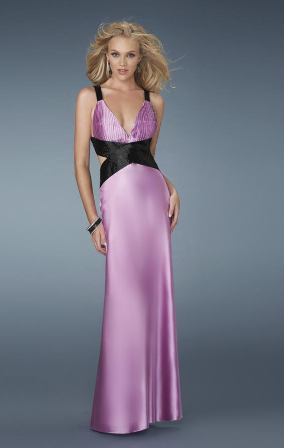 Picture of: Deep V Neck Prom Dress with Criss Cross Back, Style: 14660, Main Picture