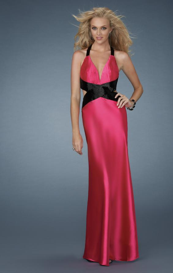 Picture of: Deep V Neck Prom Dress with Criss Cross Back, Style: 14660, Detail Picture 1