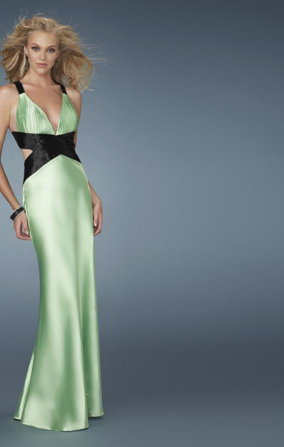 Picture of: Deep V Neck Prom Dress with Criss Cross Back, Style: 14660, Detail Picture 2