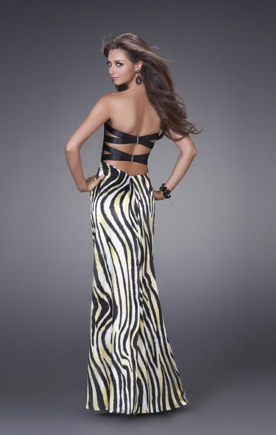 Picture of: Strapless Prom Gown with Two Strap Back, Style: 15059, Back Picture