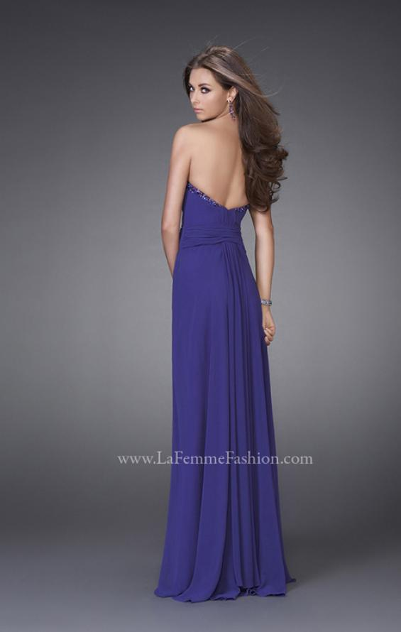 Picture of: Strapless Gown with Beading and Pleated Skirt, Style: 15126, Back Picture