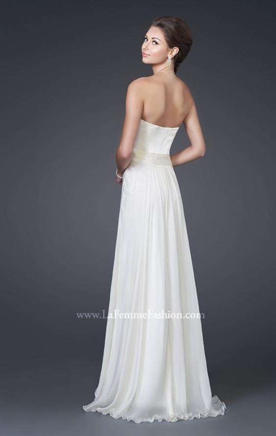 Picture of: Silk Long Gown with Corset Top and Chiffon Skirt, Style: 15586, Back Picture