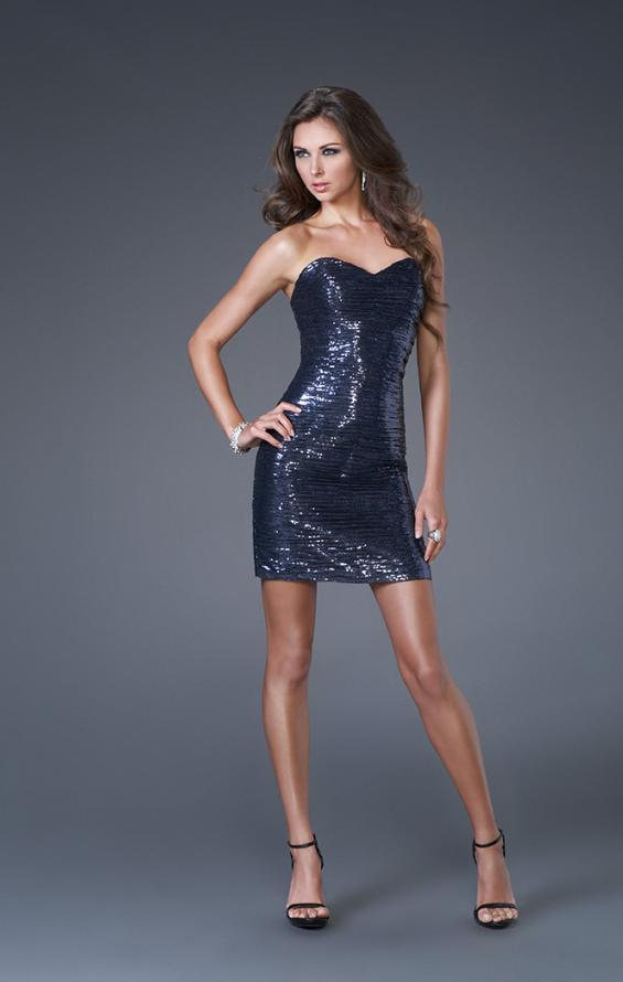 Picture of: Mini Sweetheart Neckline Sequined Dress, Style: 15960, Main Picture