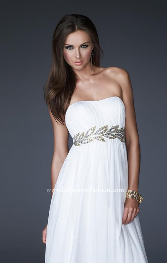 Picture of: Strapless Empire Waist Gown with Detailed Waistband, Style: 15986, Main Picture