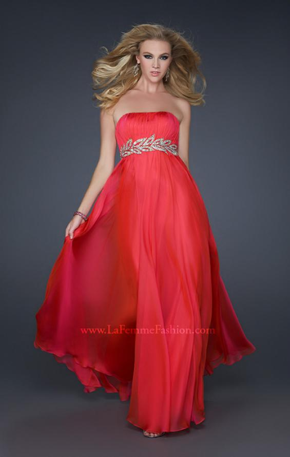 Picture of: Strapless Empire Waist Gown with Detailed Waistband, Style: 15986, Detail Picture 8