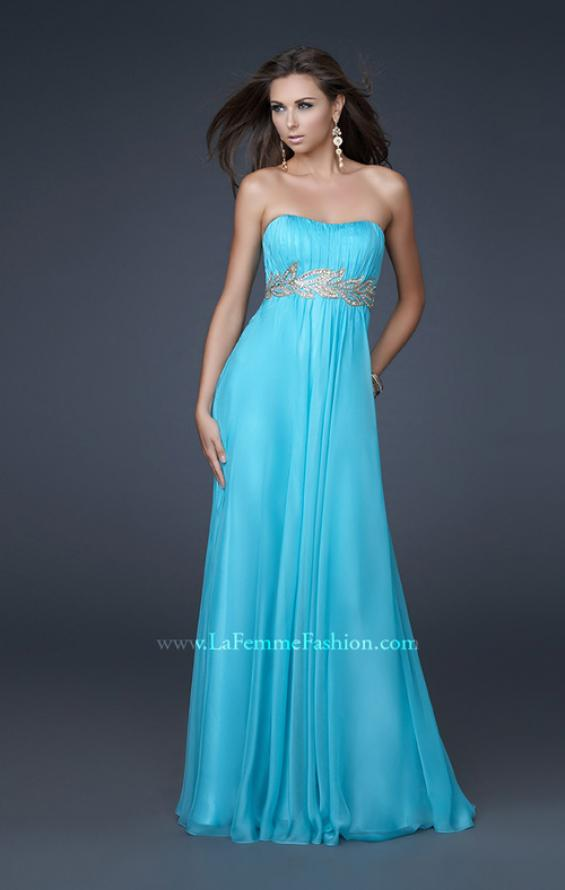 Picture of: Strapless Empire Waist Gown with Detailed Waistband, Style: 15986, Detail Picture 1