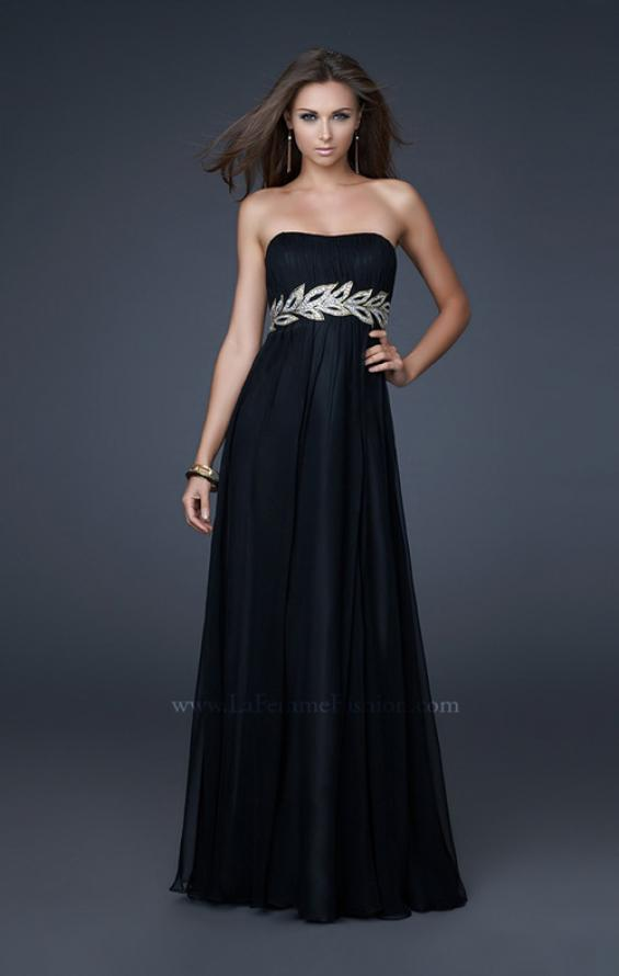 Picture of: Strapless Empire Waist Gown with Detailed Waistband, Style: 15986, Detail Picture 2
