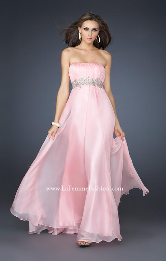 Picture of: Strapless Empire Waist Gown with Detailed Waistband, Style: 15986, Detail Picture 3