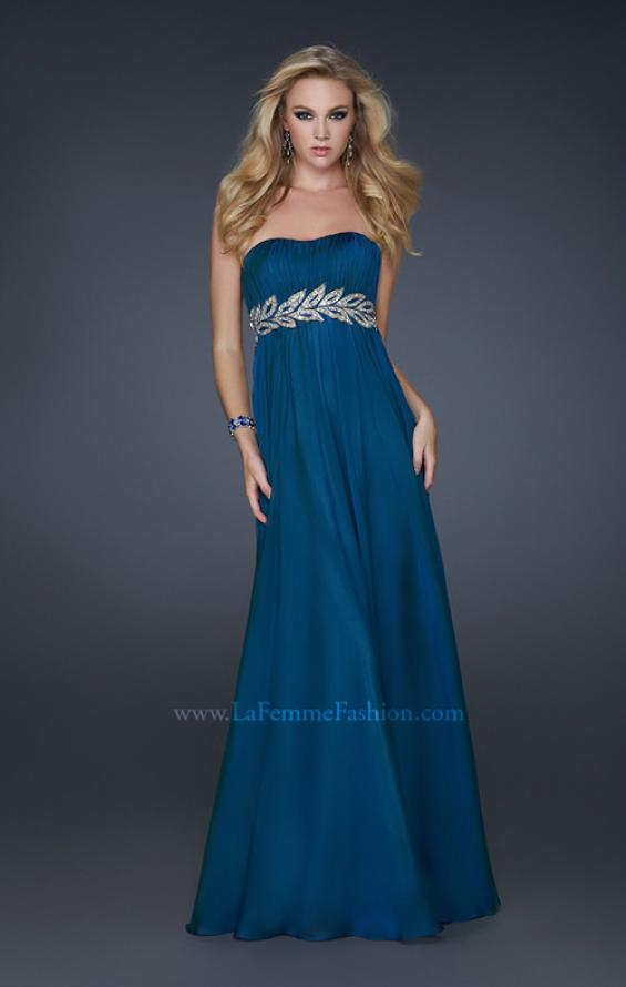 Picture of: Strapless Empire Waist Gown with Detailed Waistband, Style: 15986, Detail Picture 4