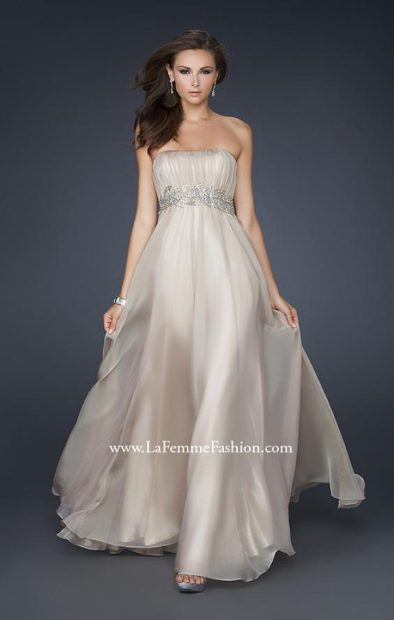 Picture of: Strapless Empire Waist Gown with Detailed Waistband, Style: 15986, Detail Picture 5