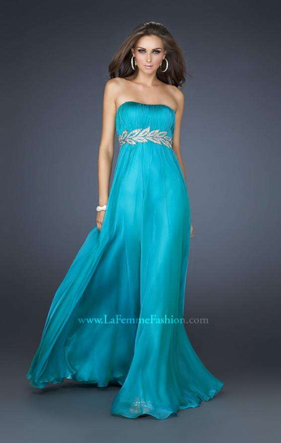 Picture of: Strapless Empire Waist Gown with Detailed Waistband, Style: 15986, Detail Picture 6