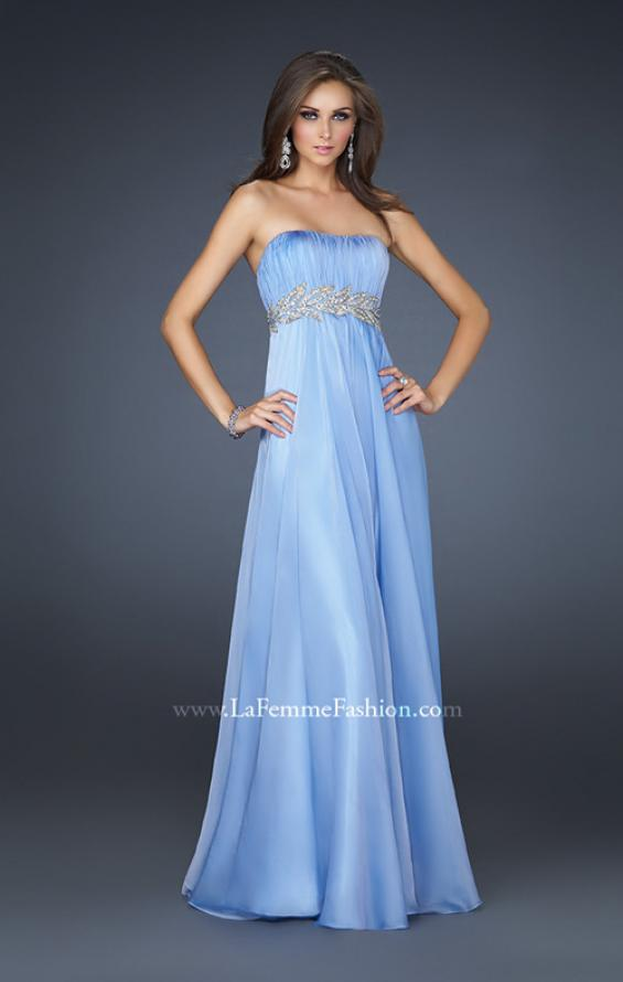 Picture of: Strapless Empire Waist Gown with Detailed Waistband, Style: 15986, Detail Picture 7