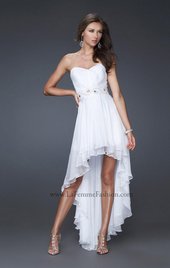 Picture of: Strapless High Low Gown with Beaded Waistline, Style: 16037, Main Picture