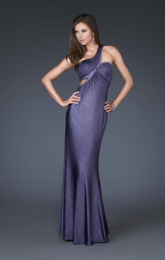 Picture of: One Shoulder Side Cut Out Prom Dress with Beading, Style: 16072, Main Picture