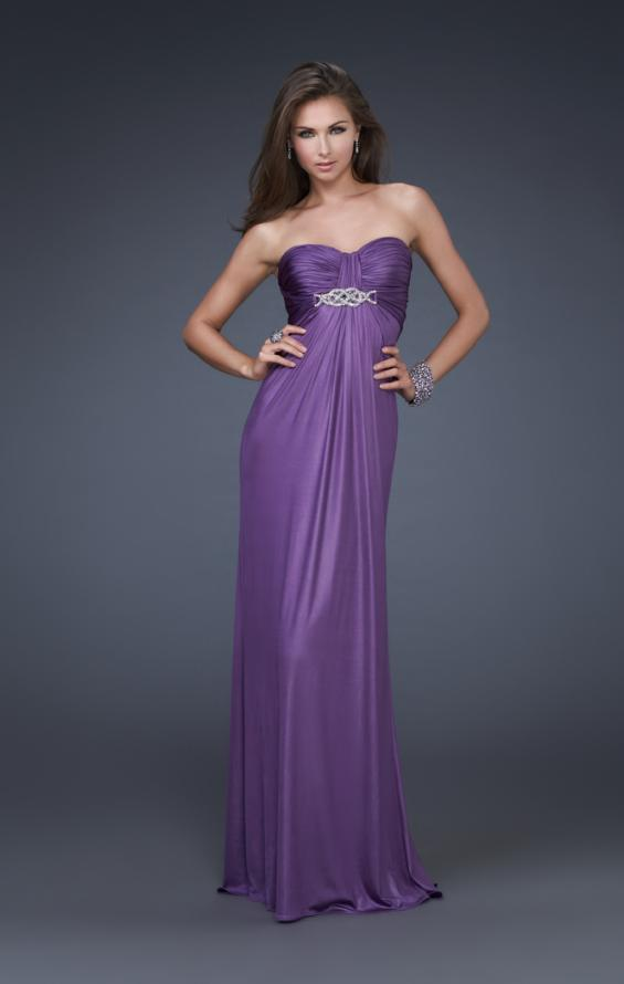 Picture of: Sweetheart Neckline Pleated Gown with Crystal Brooch, Style: 16087, Main Picture