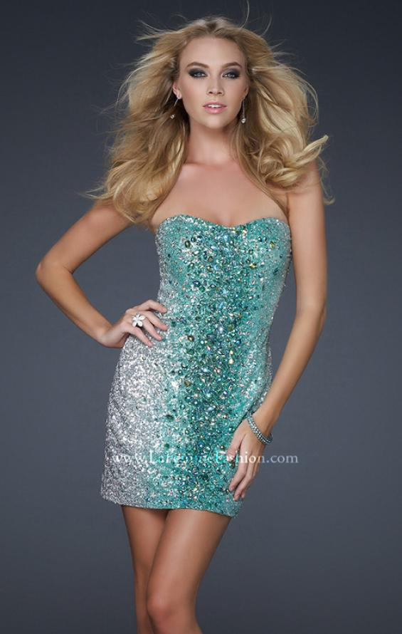 Picture of: Sexy Short Ombre Sequined Dress with Beading, Style: 16285, Detail Picture 1
