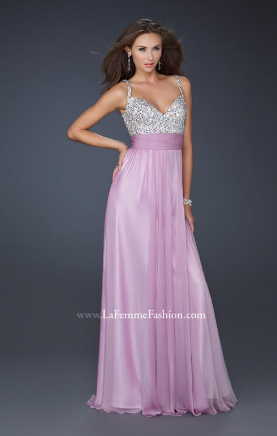 Picture of: Jewel Encrusted Prom Gown with A-line Skirt, Style: 16802, Detail Picture 12