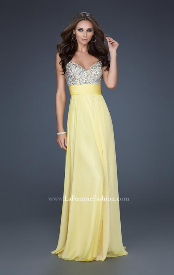Picture of: Jewel Encrusted Prom Gown with A-line Skirt, Style: 16802, Detail Picture 13