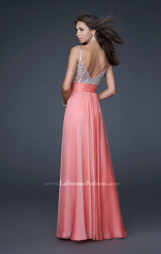 Picture of: Jewel Encrusted Prom Gown with A-line Skirt, Style: 16802, Back Picture
