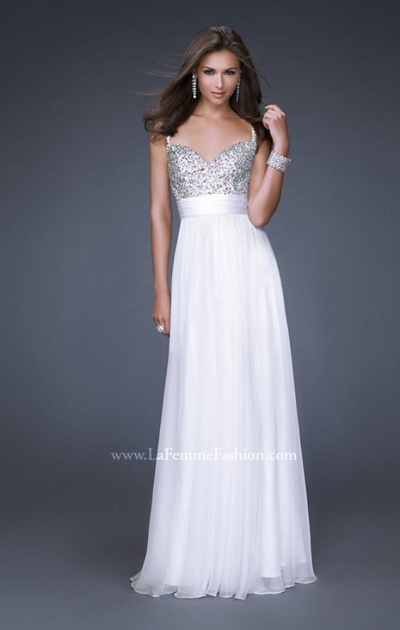 Picture of: Jewel Encrusted Prom Gown with A-line Skirt, Style: 16802, Detail Picture 1