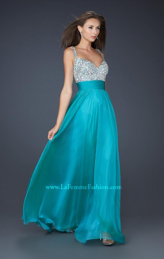 Picture of: Jewel Encrusted Prom Gown with A-line Skirt, Style: 16802, Detail Picture 2
